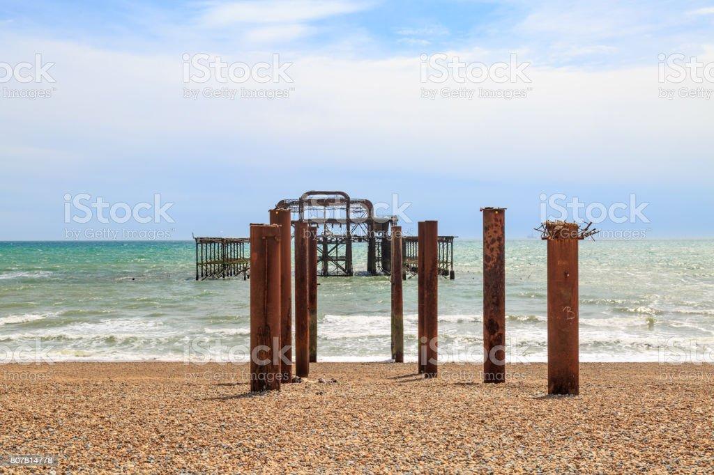 Old West Pier, Brighton stock photo