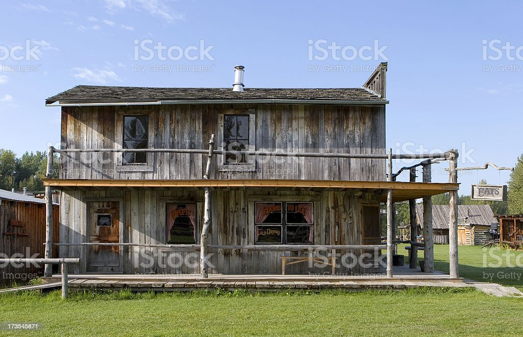 Old West Restaurant and Hotel royalty-free stock photo