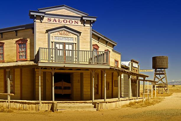 old west saloon - western town stock photos and pictures