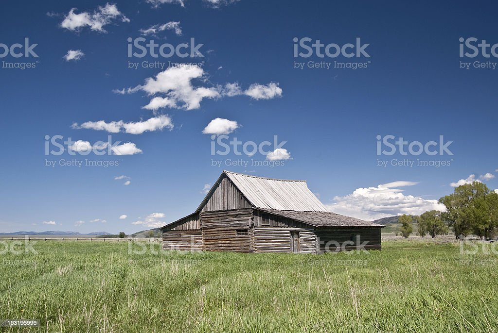 Old Western Barn royalty-free stock photo