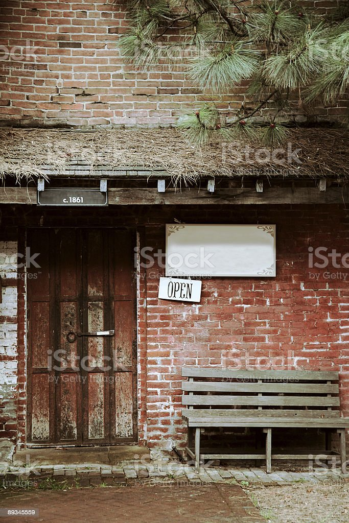 Old Western Store stock photo