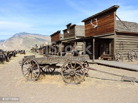 Old West Town village in Cody Wyoming.