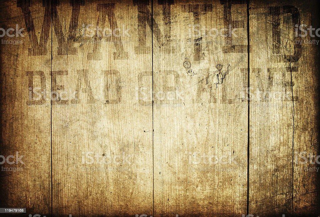 Photo De Vieux Western Voulais Panneau En Bois Sur Le Mur Image
