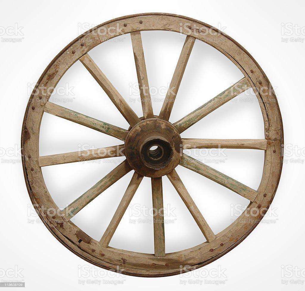old wheel royalty-free stock photo