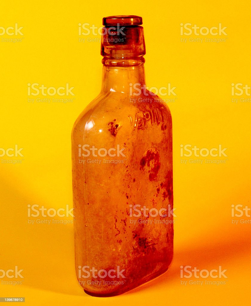 Old Whiskey Bottle royalty-free stock photo