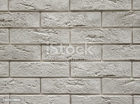 An old white brick wall close up
