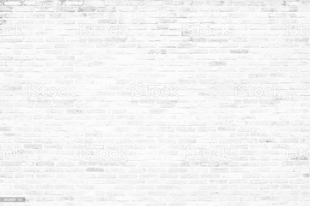 Old white brick wall background. stock photo