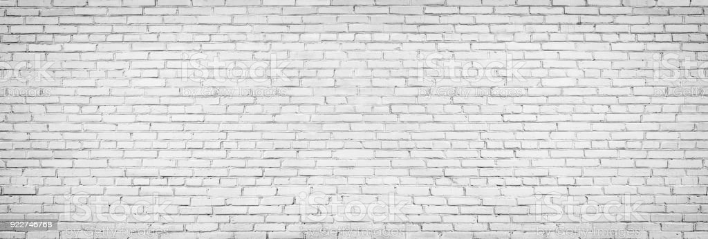 old white brick wall background, vintage texture of light brickwork stock photo