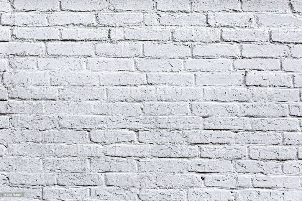 Old White Brick Wall Detail Background Stock Photo More