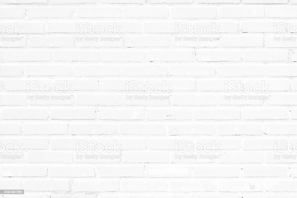 old white brick wall texture for background stock photo