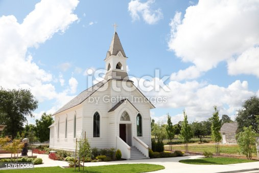 istock Old White Church 157610088