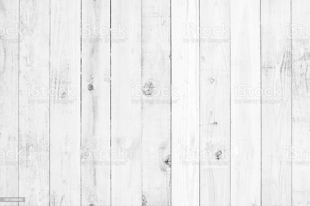old white painted wood for background stock photo