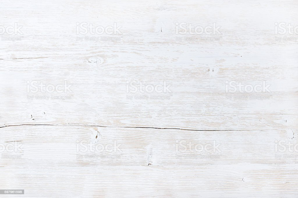 Old white painted wooden texture, wallpaper or background - Photo