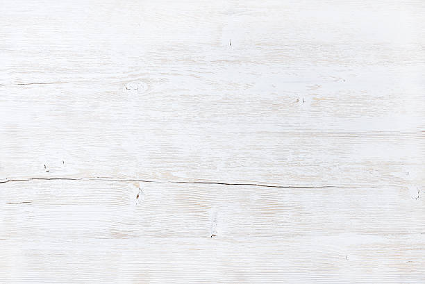 Old white painted wooden texture, wallpaper or background - foto stock