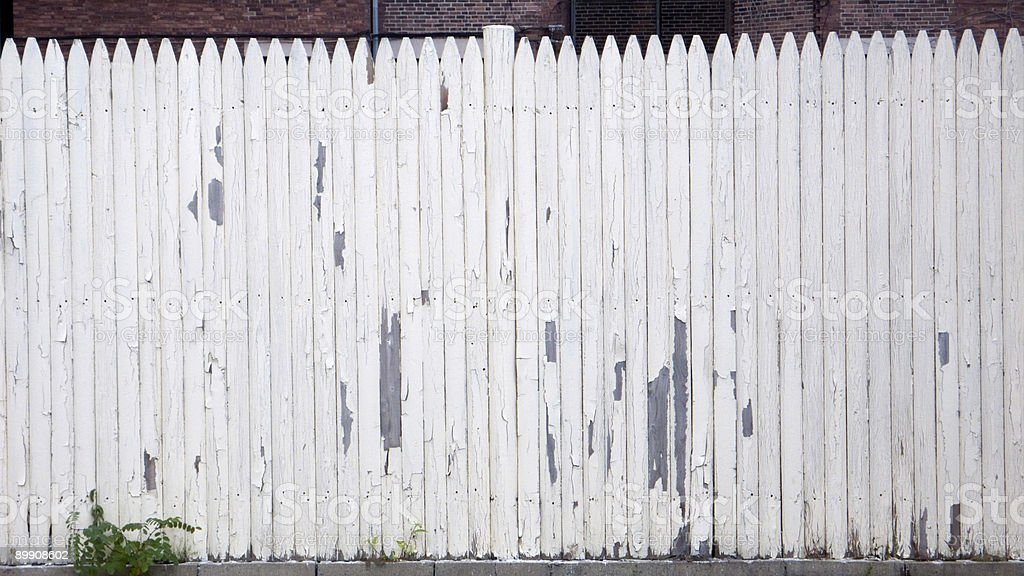 Old White Picket Fence stock photo