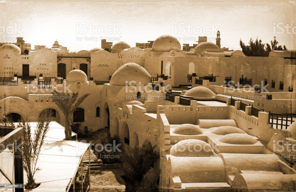 old white structure in Egypt stock photo