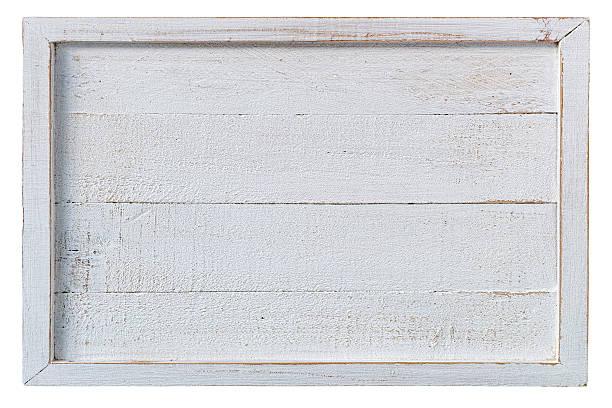 old white weathered wooden panel. - wood sign isolated bildbanksfoton och bilder