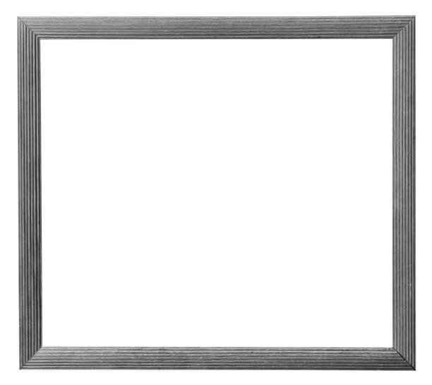 old white wood frame of photo on isolated white with clipping path. old white wood frame of photo on isolated white with clipping path. black border stock pictures, royalty-free photos & images