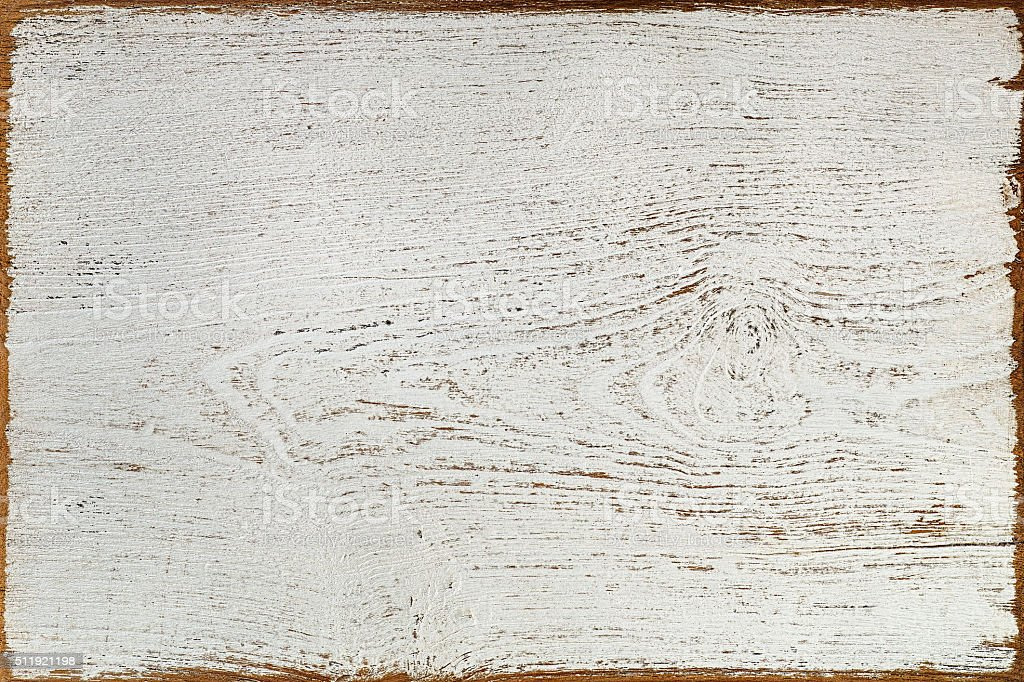 Old white wooden board background. stock photo