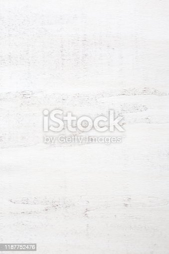 istock Old white wooden texture of rustic table. 1187752476