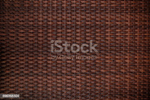 Old Wicker Texture, Weathered Brown Background Pattern