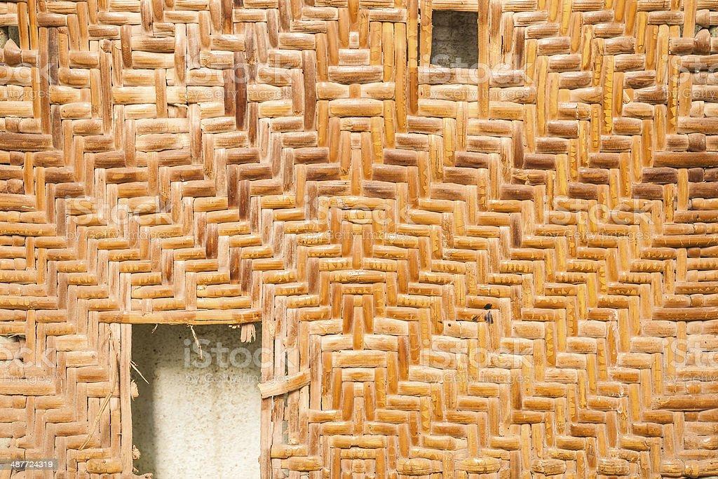 Old Wicker wood pattern royalty-free stock photo