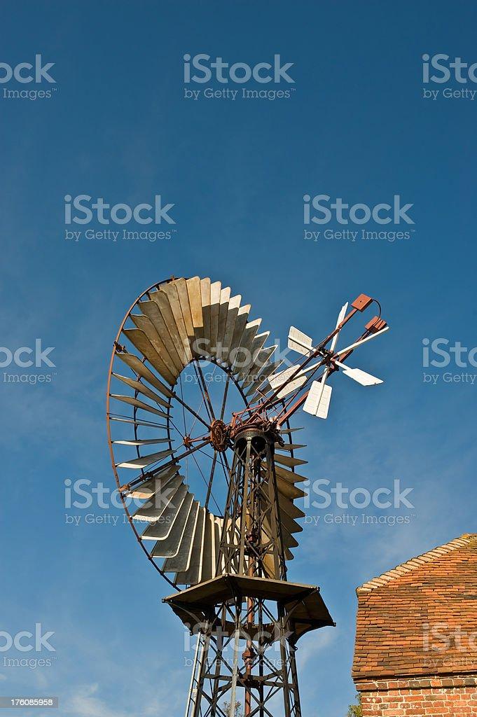 Old Wind Engine Windmill stock photo
