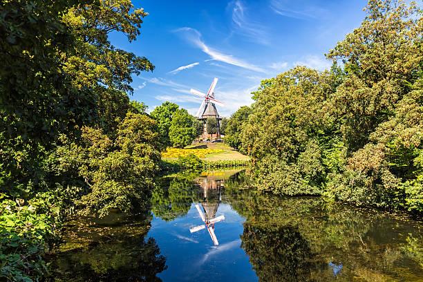Old Windmill in Bremen stock photo