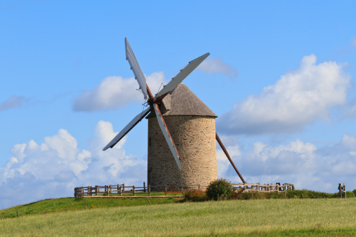 istock Old windmill in France 134249484