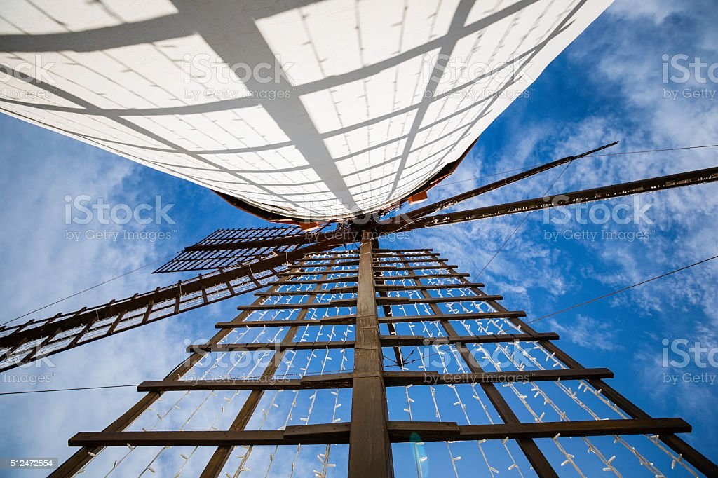 old windmill in Gran Canaria royalty-free stock photo