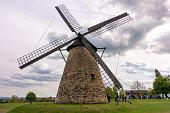 april 16, 2017 - Veszprem, Hungary: old windmill in Szentendre Skanzen Village, Hungary