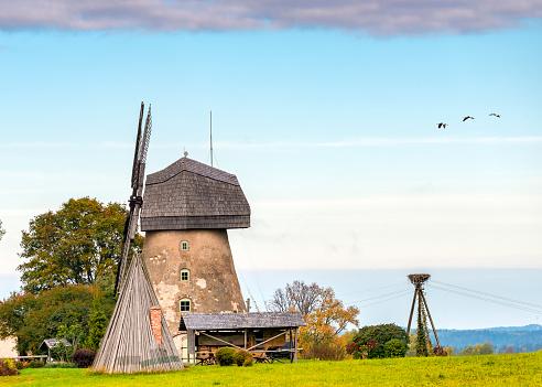 Old windmill in Vidzeme region of Latvia, Europe