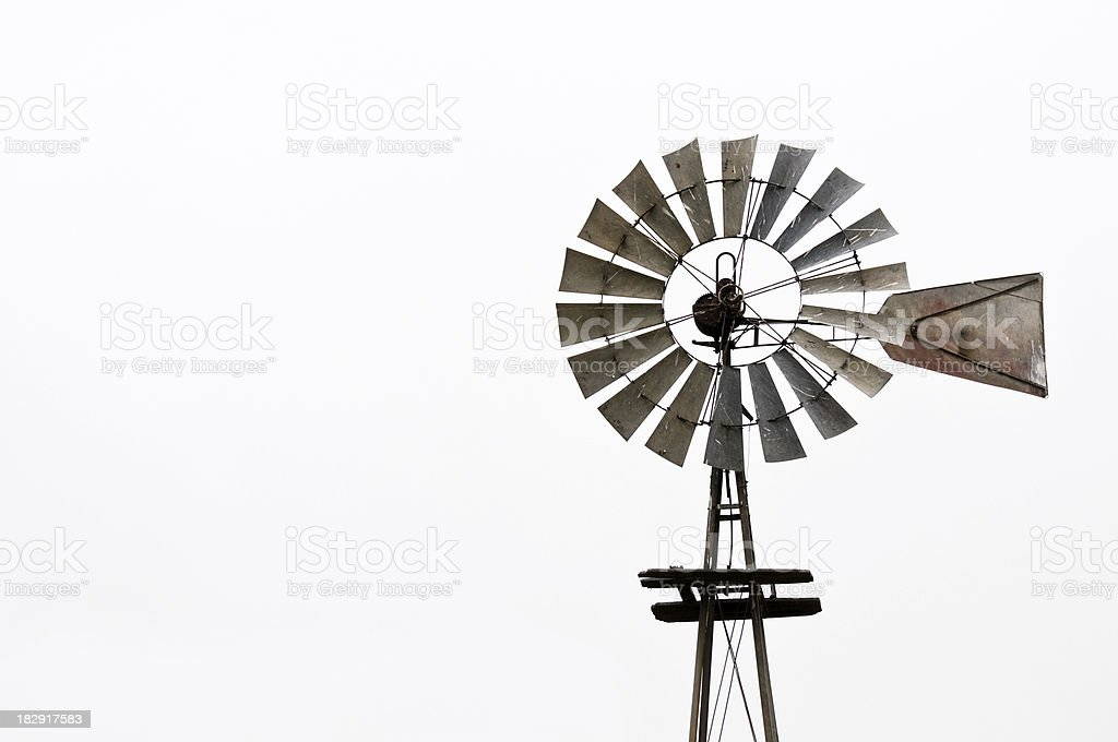 Old Windmill Isolated stock photo