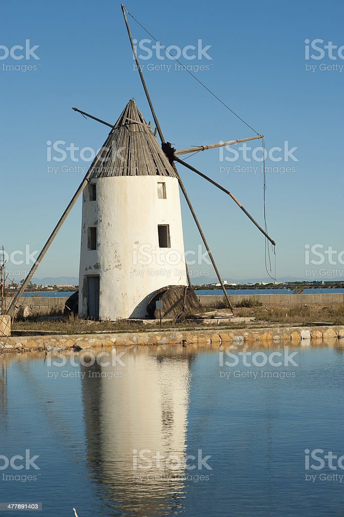 Old windmill royalty-free stock photo