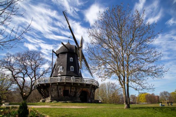 Old windmill Slottsmollan in Malmo, Sweden stock photo