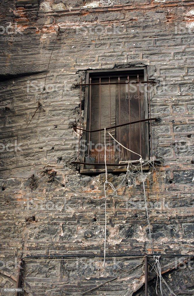 Old window Architecture from the Ottoman times zbiór zdjęć royalty-free