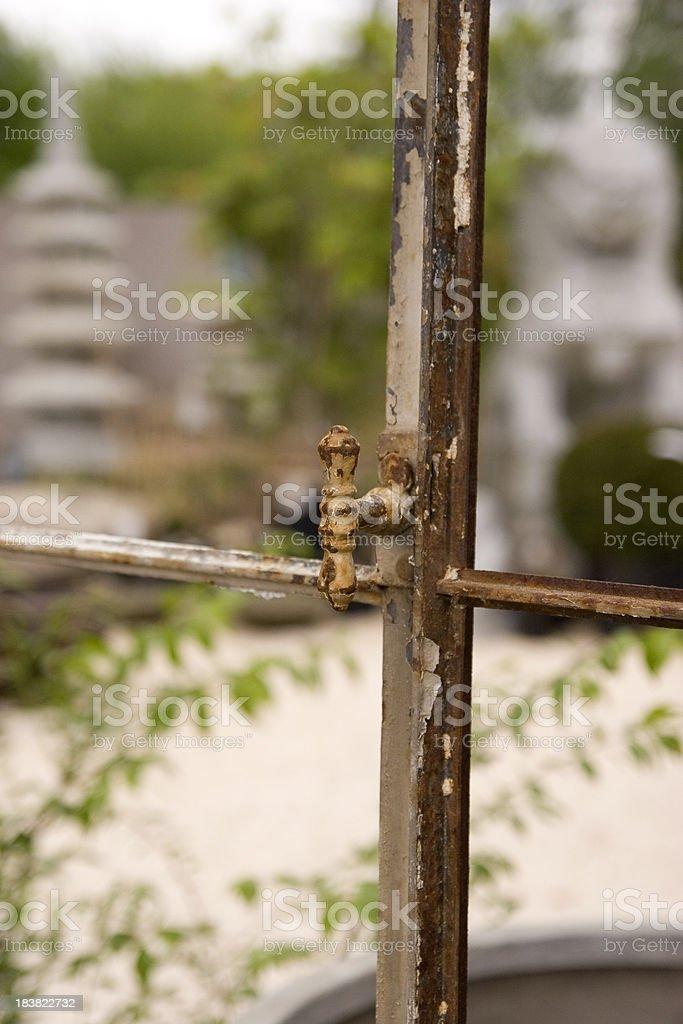 Old Window Handle royalty-free stock photo