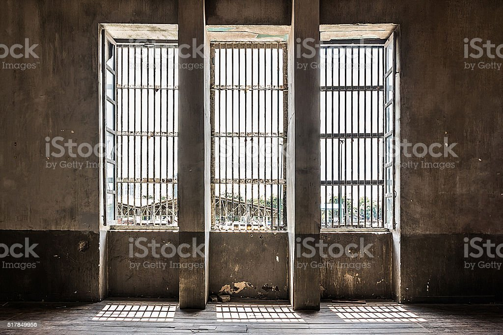 old window industrial interior stock photo