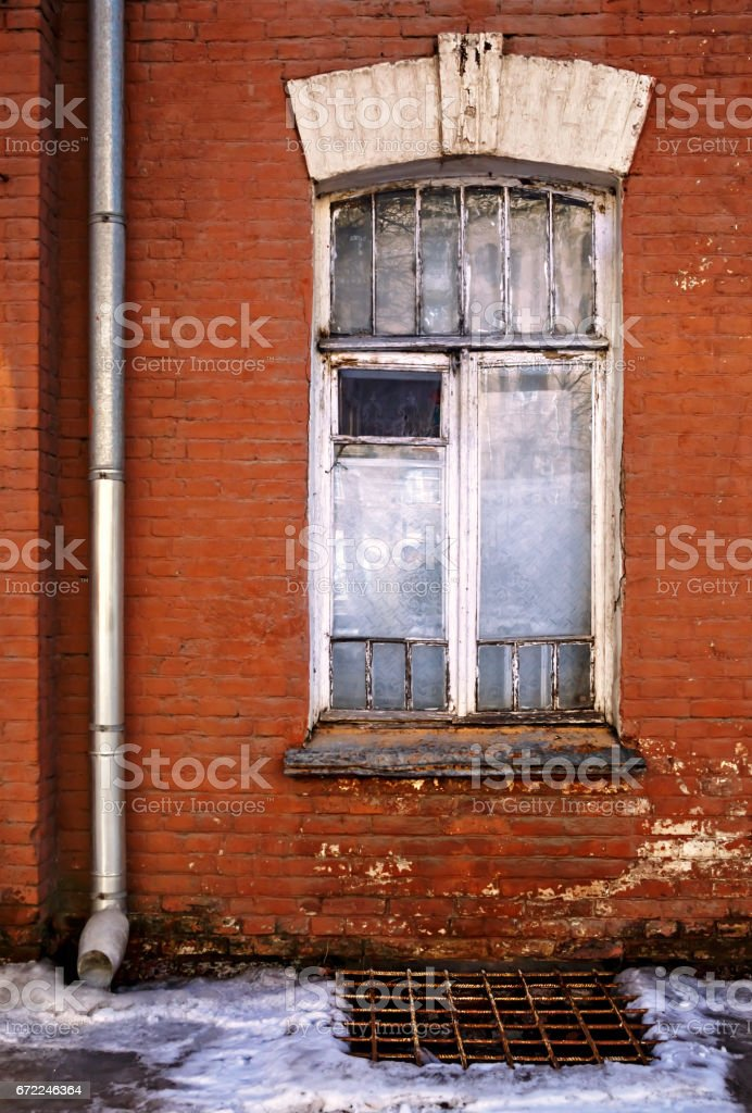 Old Window, Old Facade, Street, Building Exterior, City stock photo