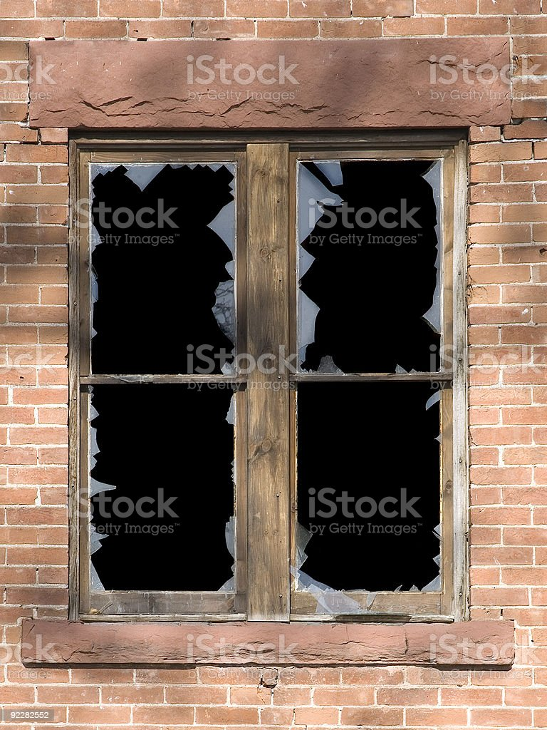 Old Window once a mansion. royalty-free stock photo