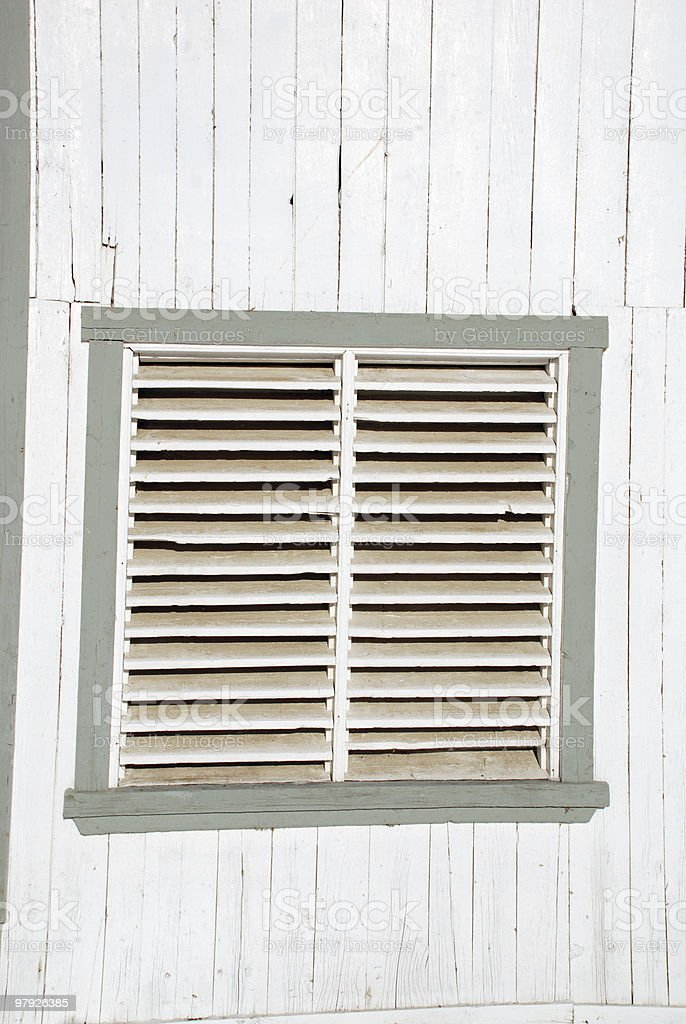 Old window (shutter) royalty-free stock photo
