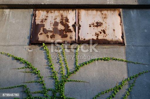 Old windows of iron