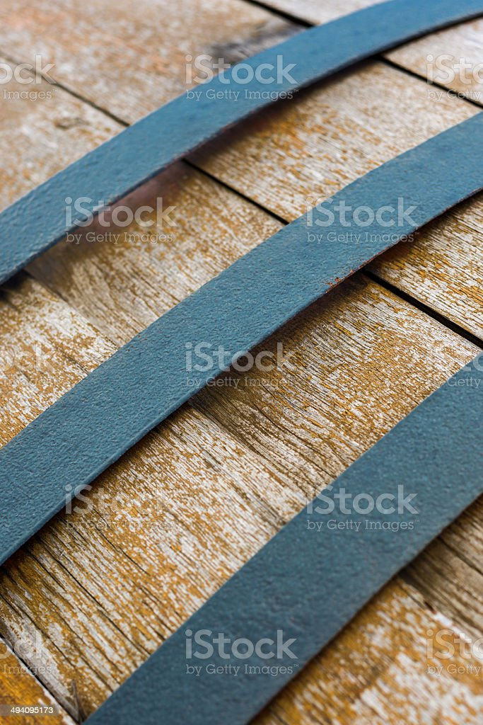 Altes Weinfass Textur stock photo