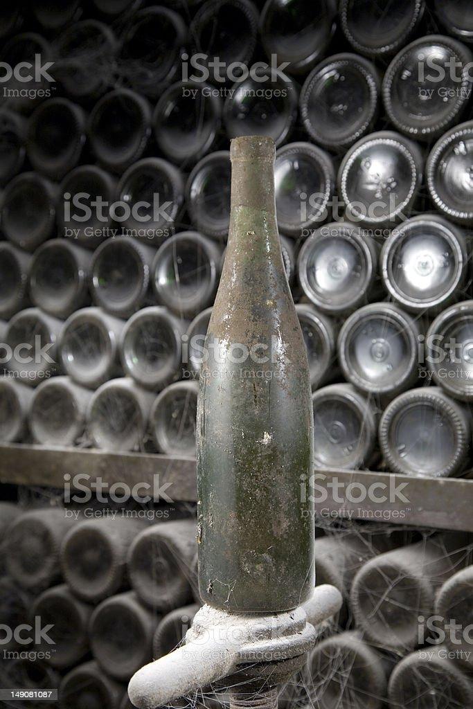 old wine bottle royalty-free stock photo