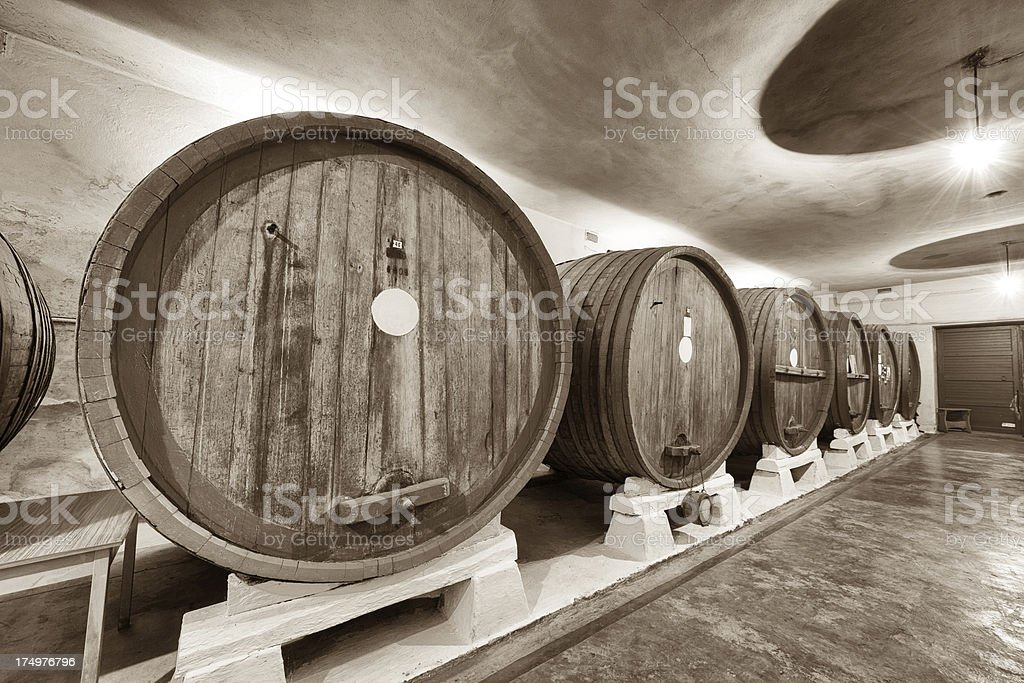 Old wine cellar - THE GRAIN AND TEXTURE ADDED royalty-free stock photo