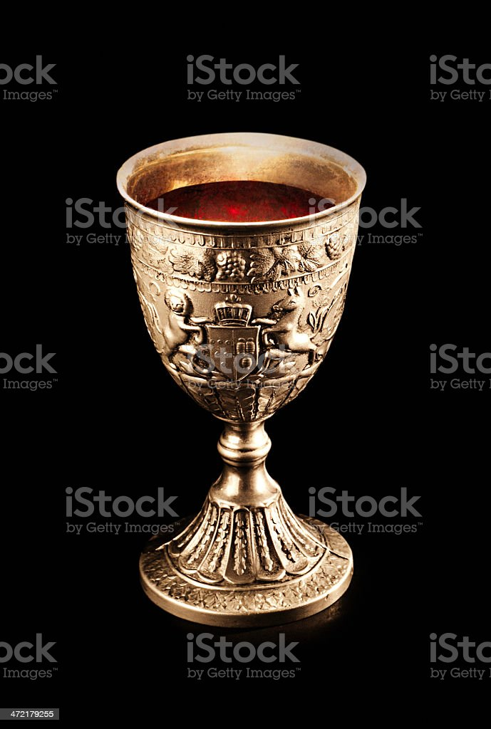 Old Wine Cup stock photo