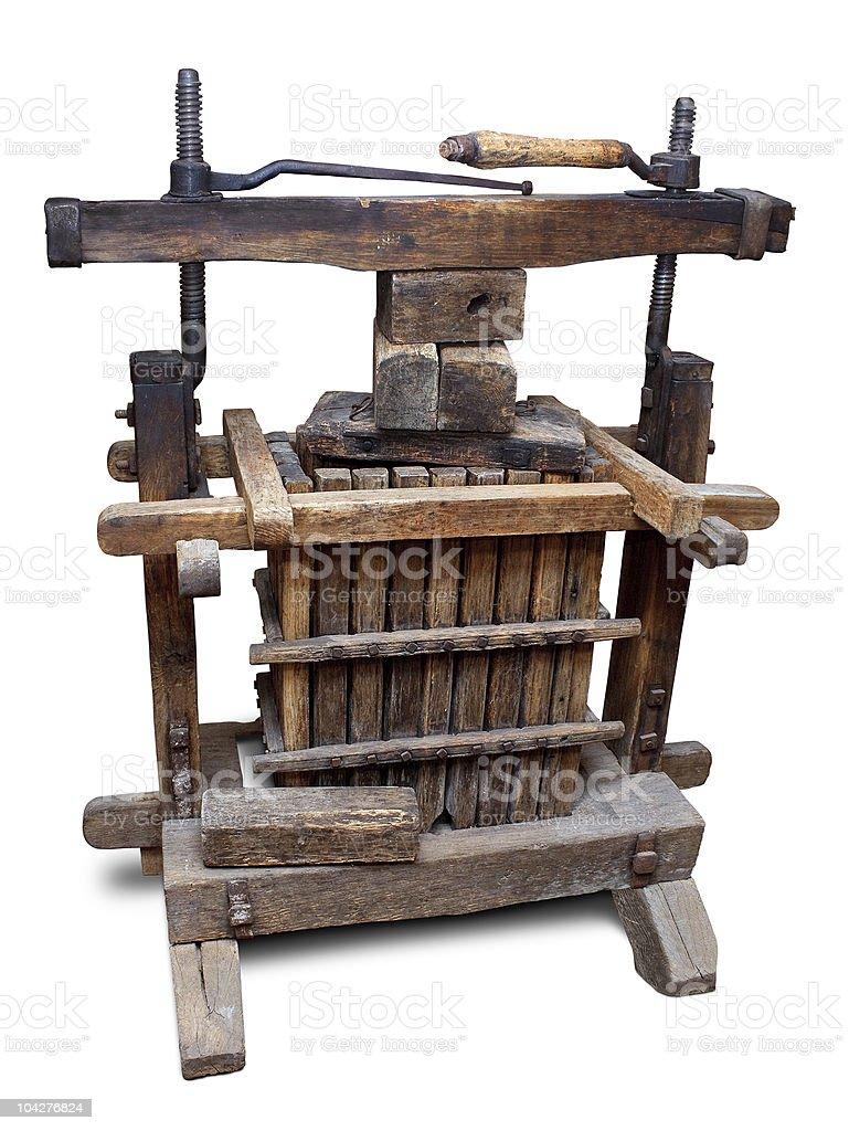 Old wine press royalty-free stock photo