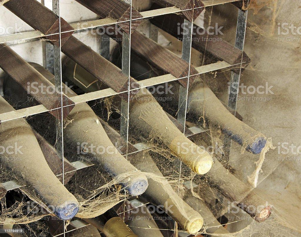 old wine rack royalty-free stock photo