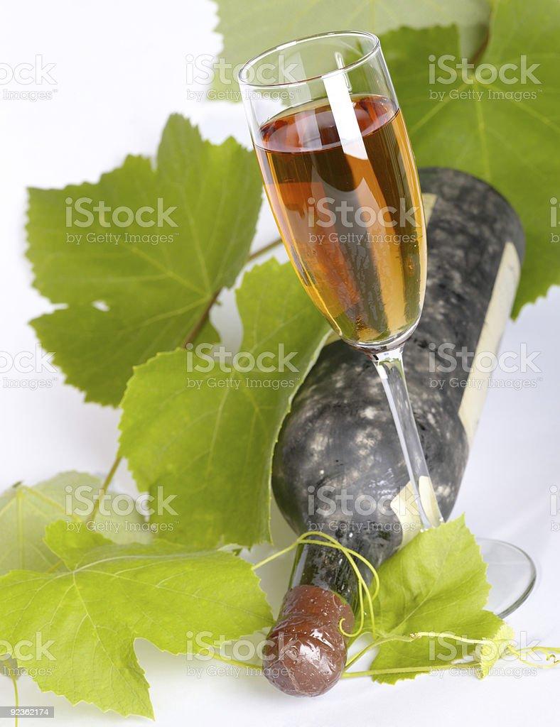 Old wine still-life. royalty-free stock photo