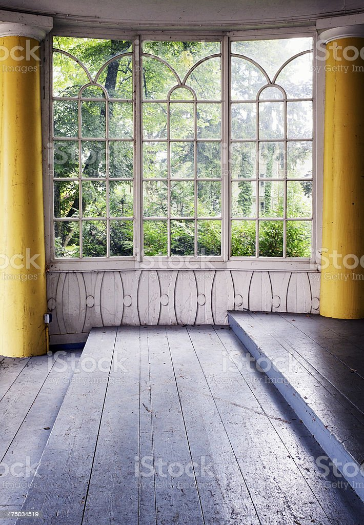 old winter garden stock photo